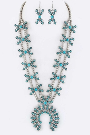 Nadya's Closet Squash Blossom Necklace-Set - Front cropped