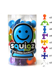 Fat Brain Toys Squigz 24 Piece Starter Set - Product Mini Image