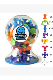 Fat Brain Toys Squigz Deluxe Set - Front cropped