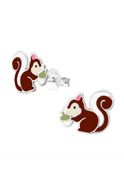Silver Jewels Squirrel Silver Stud Earrings - Product Mini Image