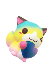 Squeezes Squishy Funny Heart Cat - Product Mini Image
