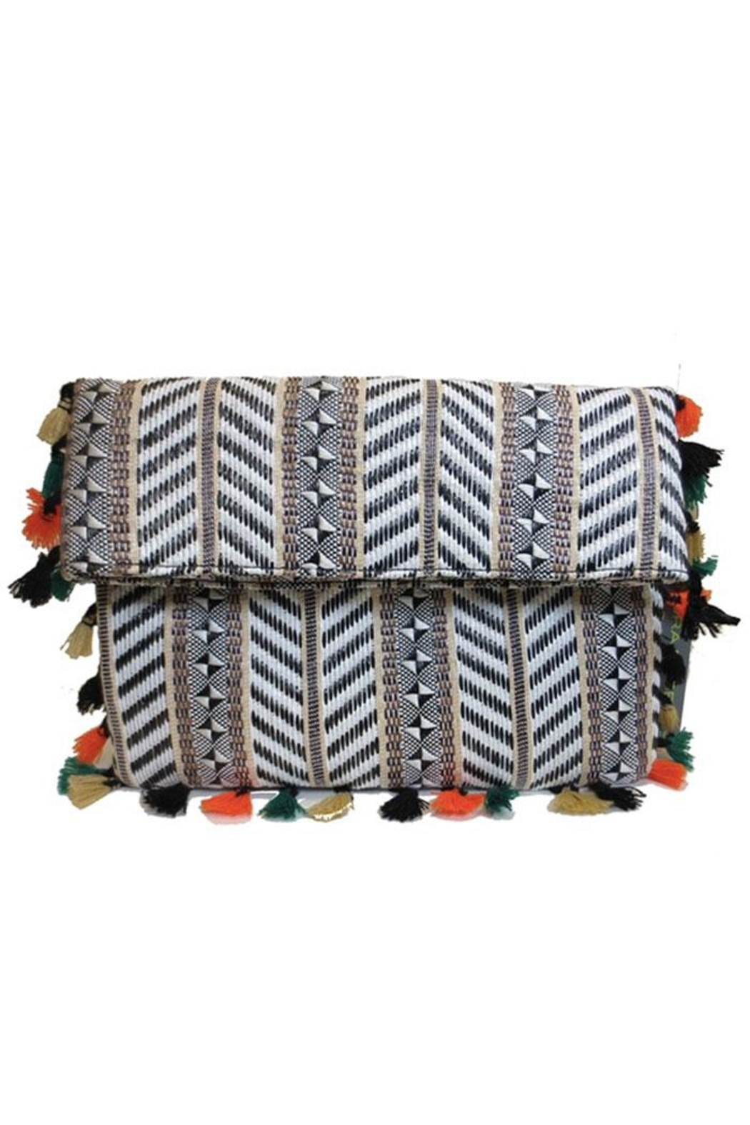 SR by Sondra Roberts Fold Over Clutch - Front Cropped Image