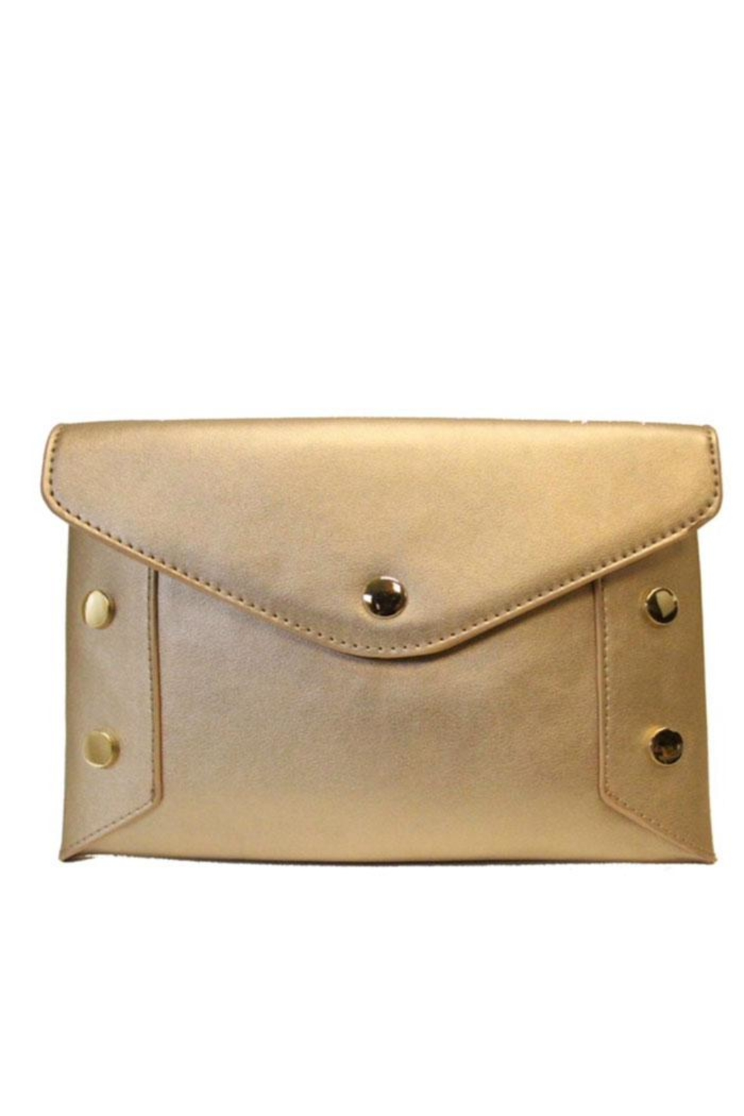 SR by Sondra Roberts Studded Convertable Clutch - Front Cropped Image