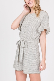 Lyn-Maree's  Srtipe Cotton Romper - Front cropped