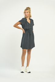 Dex SS Frayed Hem Denim Dress - Product Mini Image