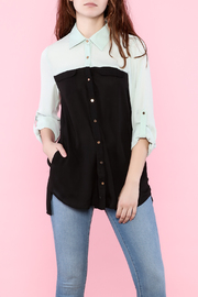 SS Sheer Button-Down Shirt - Product Mini Image