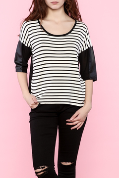 Shoptiques Product: Three-Quarter Striped Tee