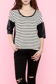 SS Three-Quarter Striped Tee - Product Mini Image
