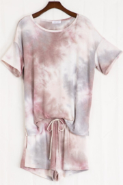 First Love SS Tie Dye Matching Short Set - Product Mini Image