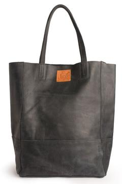 Shoptiques Product: Midnight Black Leather Tote