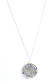 The Birds Nest ST. BENEDICT MEDALLION ACCENTED W/ 22K GOLD - 10 INCH CHAIN - Product Mini Image