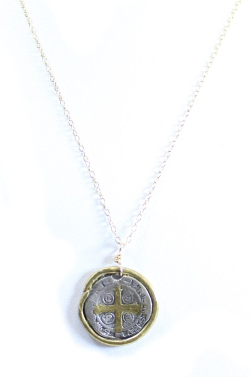 The Birds Nest ST. BENEDICT MEDALLION NECKLACE - 8.5 INCH CHAIN - Main Image