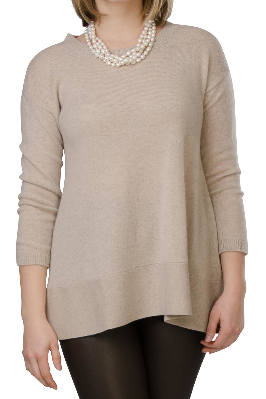 Cortland Park Cashmere St. Tropez Sweater - Front Cropped Image