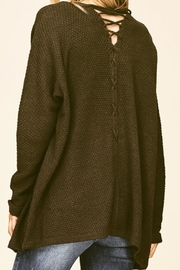 Staccato Back Lace-Up Cardigan - Product Mini Image