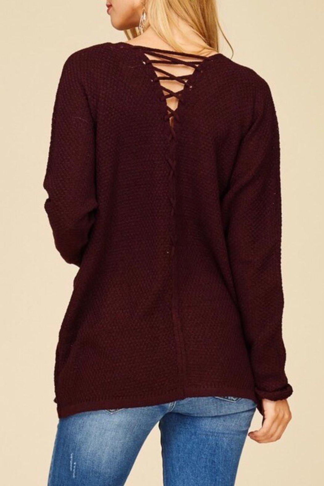 Staccato Back Lace-Up Cardigan - Main Image