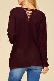 Staccato Back Lace-Up Cardigan - Front cropped