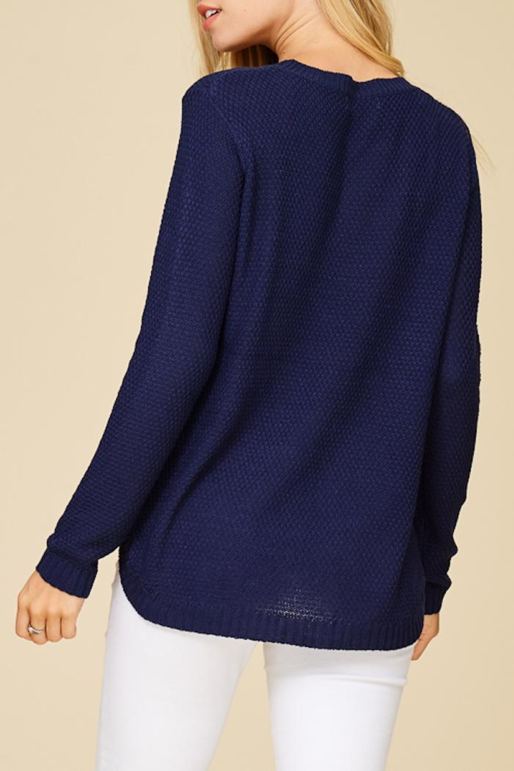 Staccato Back To Basic Top - Back Cropped Image