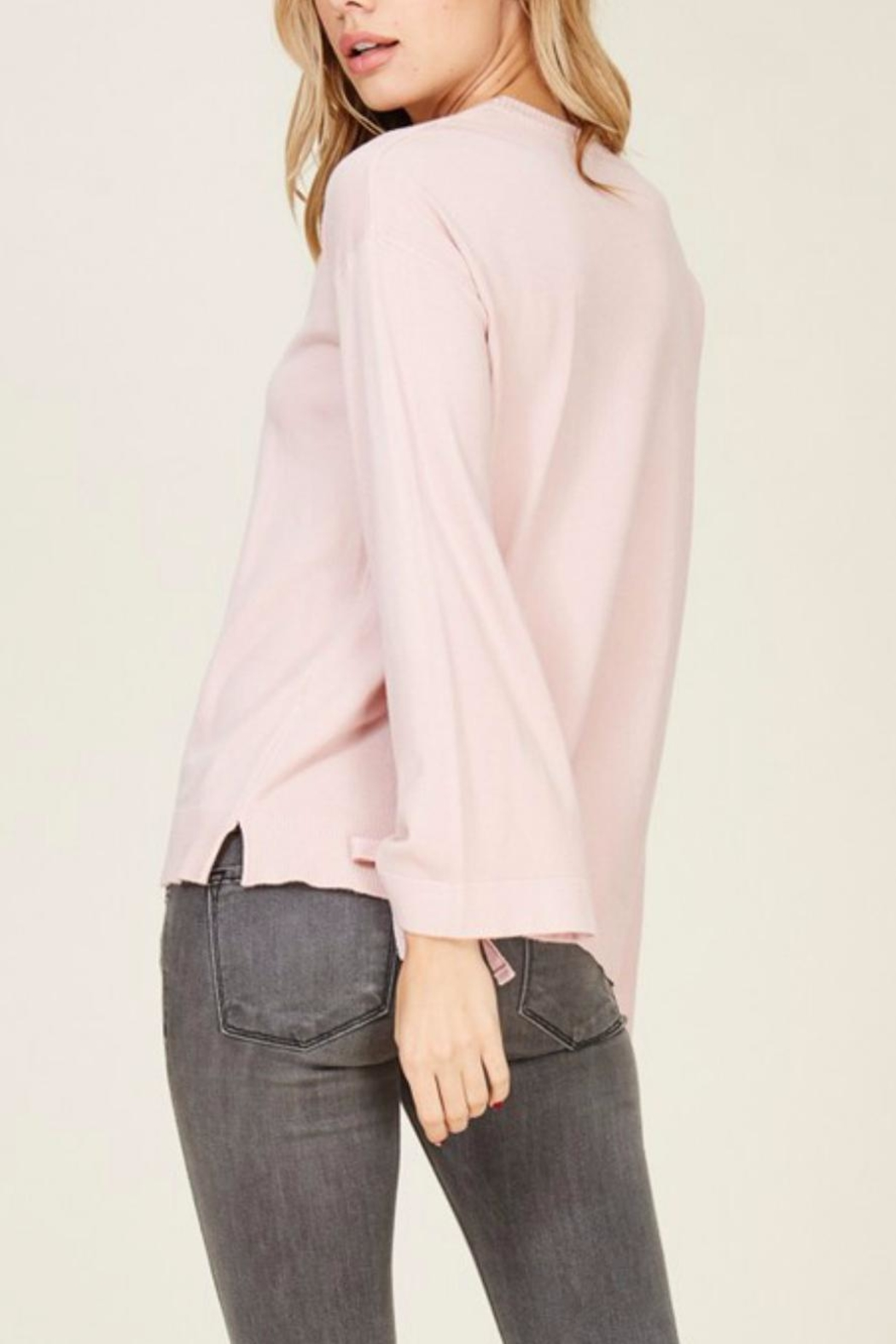 Staccato Bell Tie Sleeve - Side Cropped Image