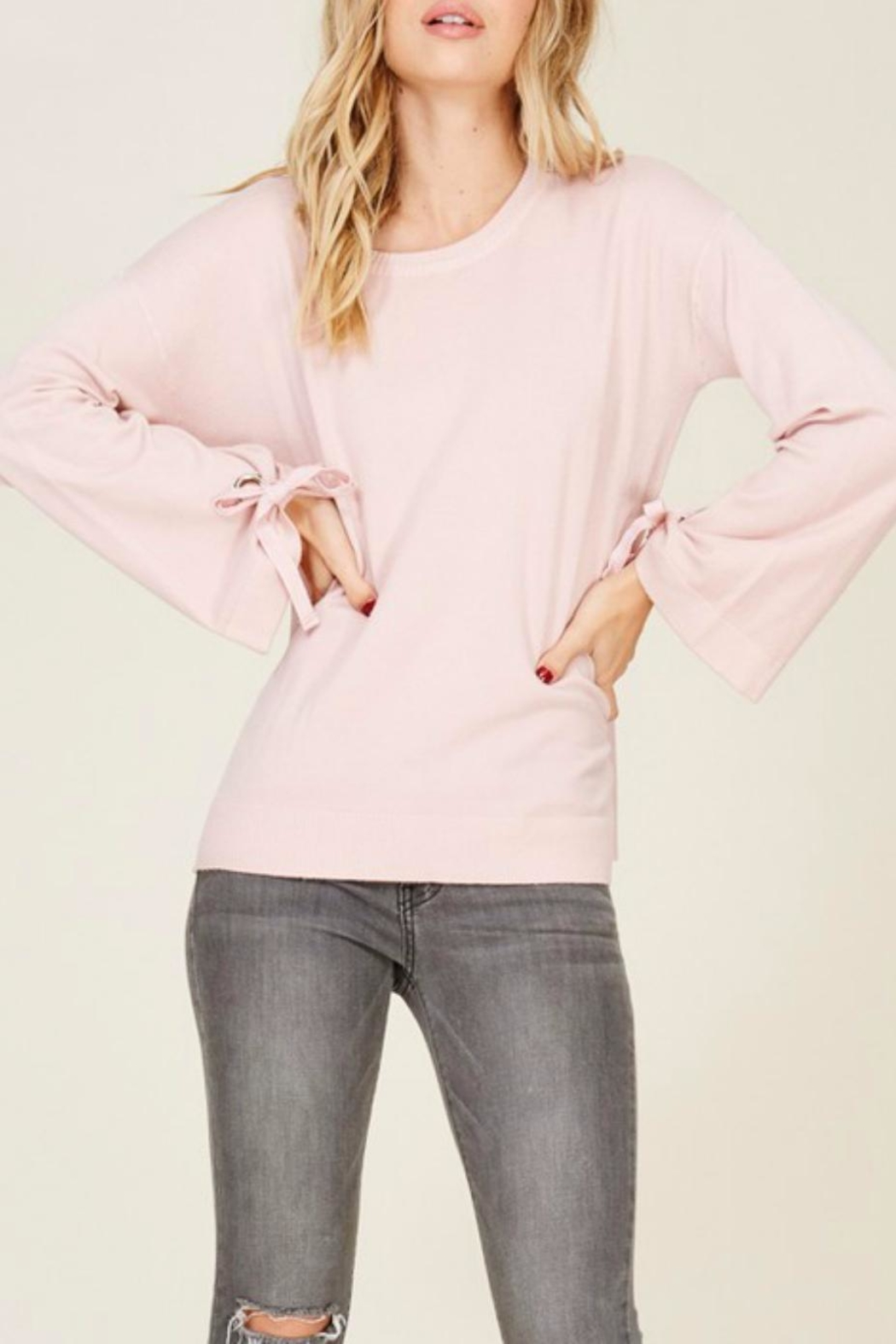 Staccato Bell Tie Sleeve - Back Cropped Image