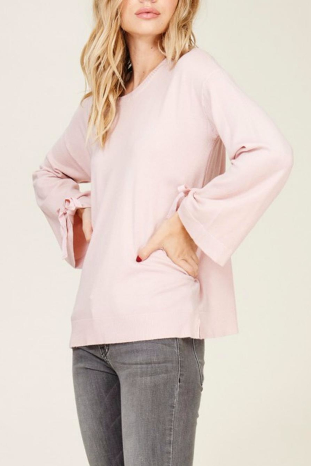 Staccato Bell Tie Sleeve - Front Full Image