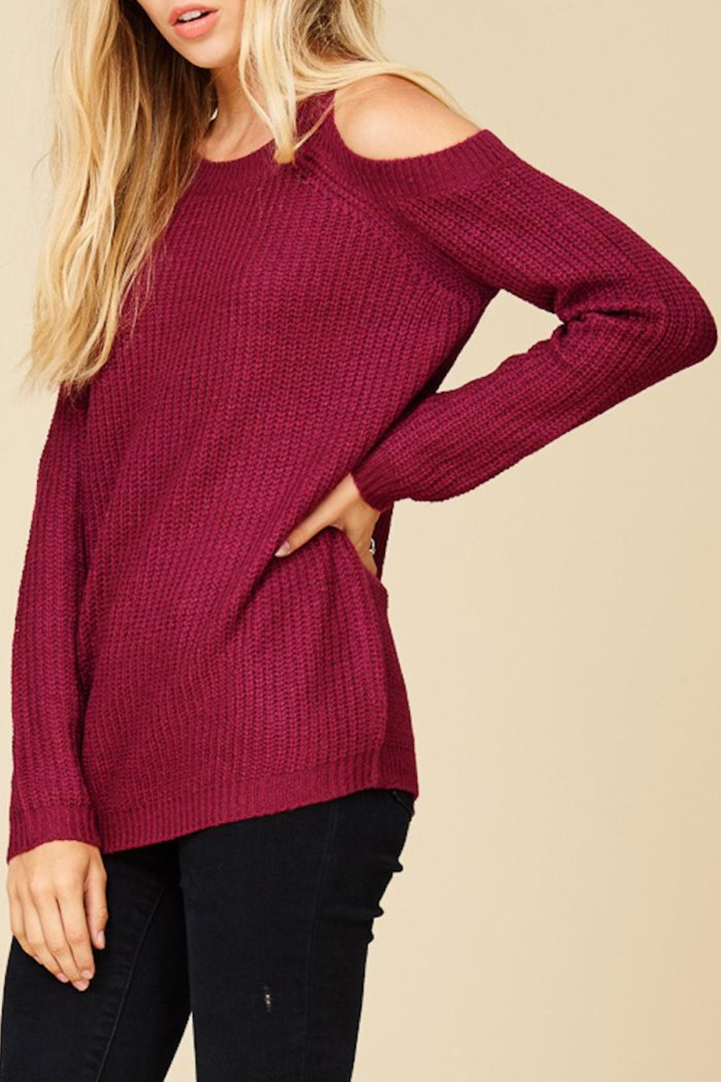 Staccato Berry Bright Sweater - Main Image