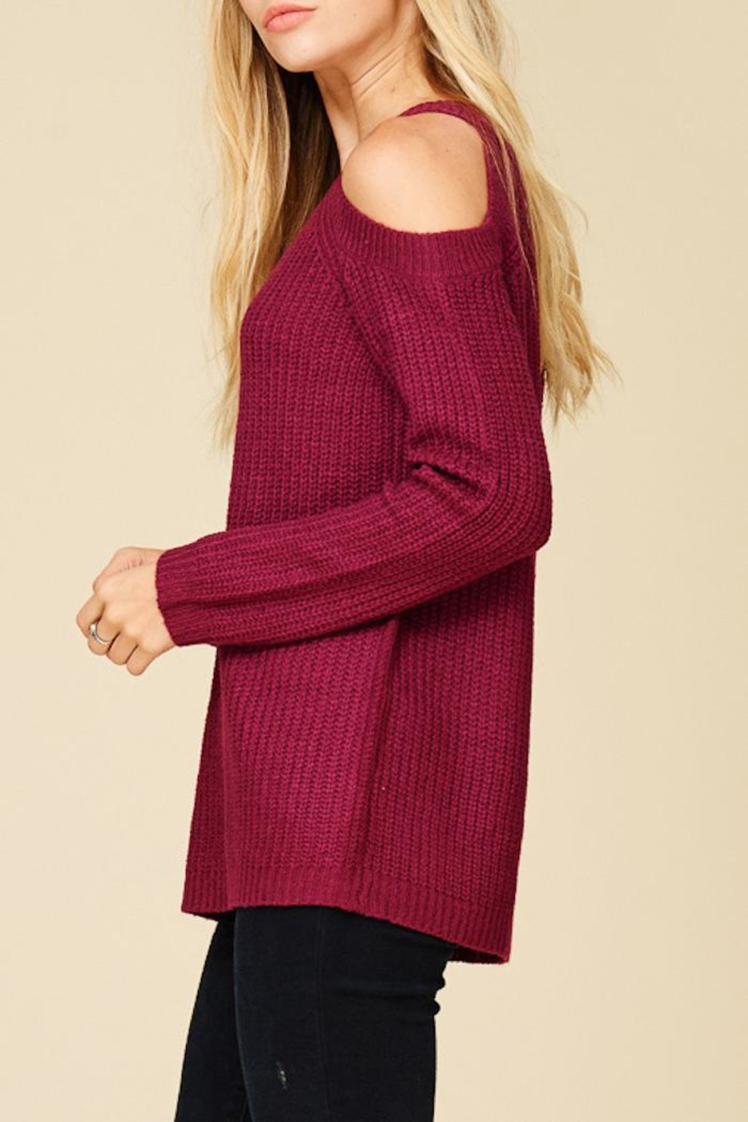 Staccato Berry Bright Sweater - Front Full Image