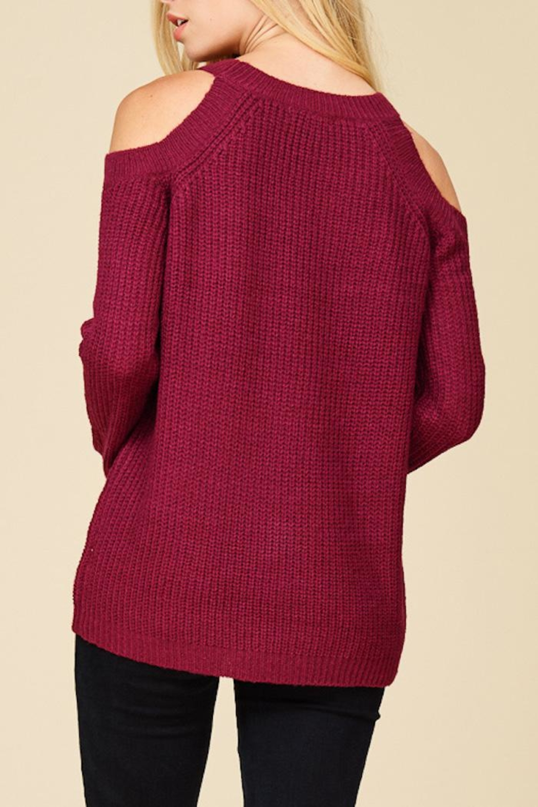 Staccato Berry Bright Sweater - Side Cropped Image