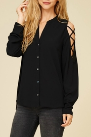 Staccato Black Collar Blouse - Product Mini Image