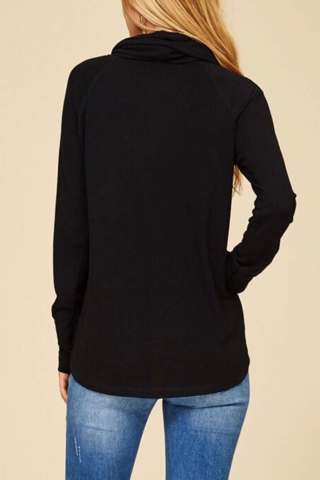 Staccato Black Drawastring Top - Back Cropped Image