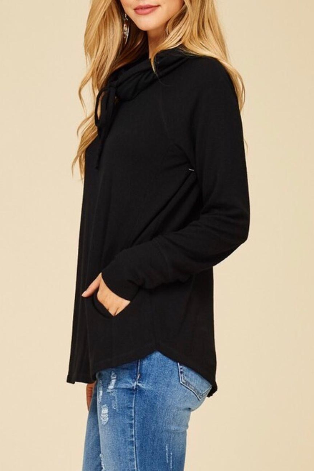 Staccato Black Drawastring Top - Side Cropped Image