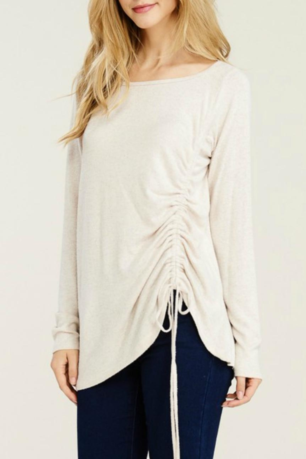 Staccato Brushed Drawstring Tunic - Side Cropped Image