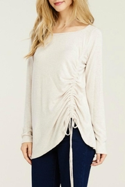 Staccato Brushed Drawstring Tunic - Side cropped