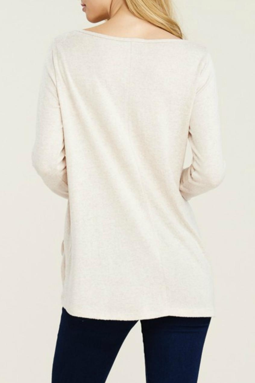 Staccato Brushed Drawstring Tunic - Front Full Image