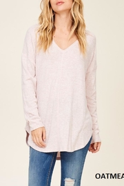Staccato Brushed Vneck Tunic - Back cropped