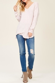 Staccato Brushed Vneck Tunic - Front cropped