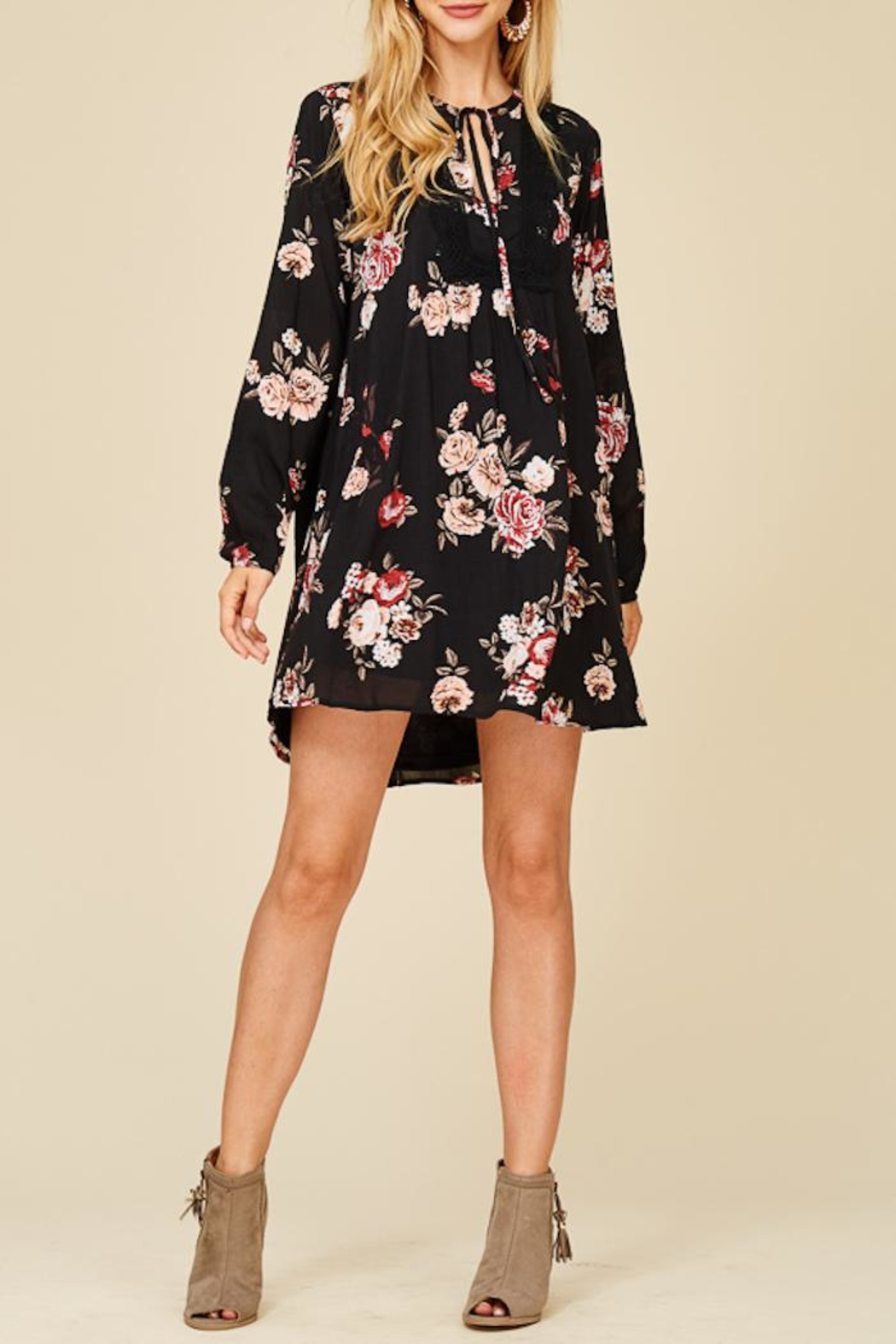 Staccato Bushel Of Roses Dress - Front Cropped Image