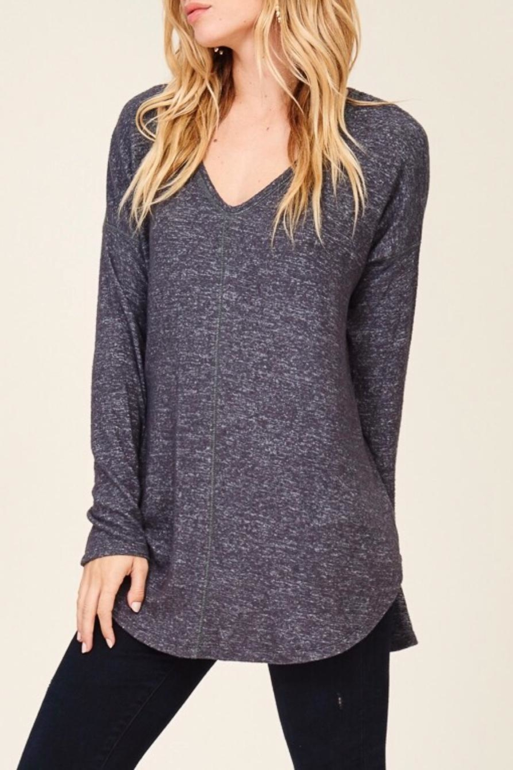 Staccato Casual V-Neck Top - Main Image