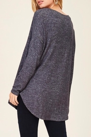 Staccato Casual V-Neck Top - Side cropped