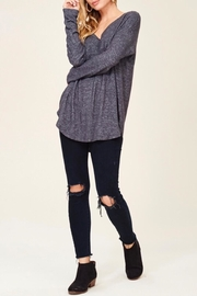 Staccato Casual V-Neck Top - Back cropped
