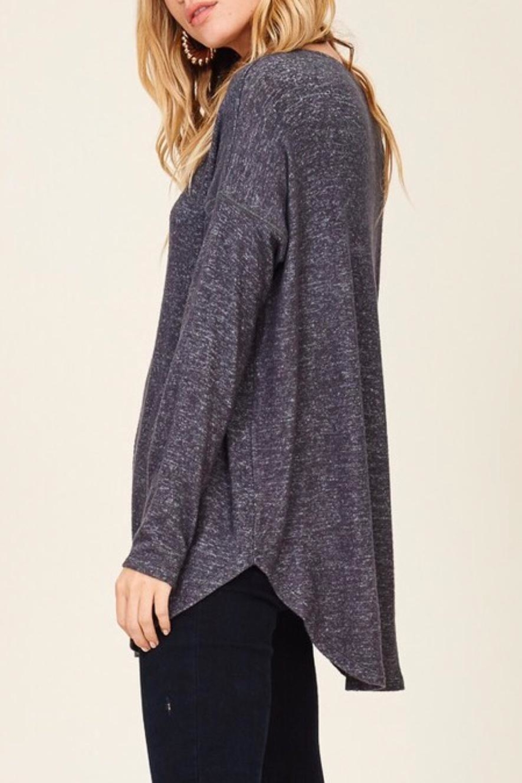 Staccato Casual V-Neck Top - Front Full Image
