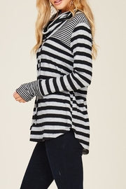 Staccato Caught Up Cowl Sweatshirt - Back cropped