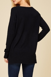 Staccato Center Seam Sweater Top - Front full body
