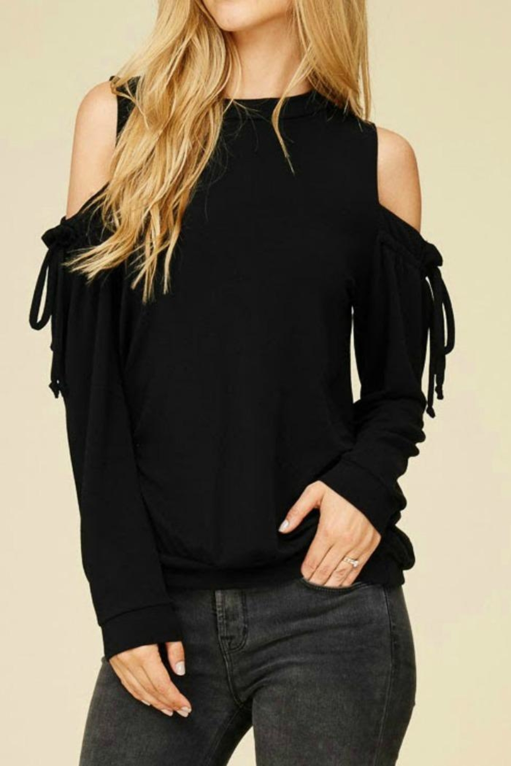 Staccato Cold Shoulder Top - Main Image