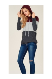 Staccato Color Block Hoodie - Product Mini Image
