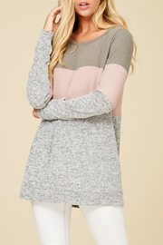Staccato Color Combo Tunic Top - Side cropped