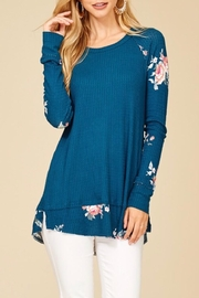Staccato Contrast Floral Top - Product Mini Image