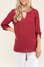Staccato Cross Over V Neck - Product Mini Image