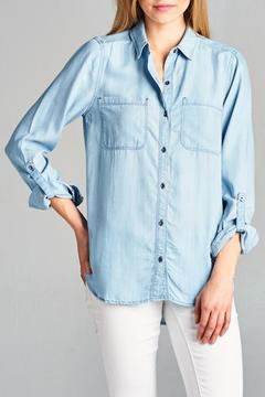 Shoptiques Product:  Denim Blue Shirt