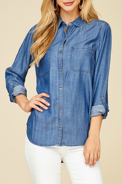 Staccato Denim Button-Down Shirt - Product List Image
