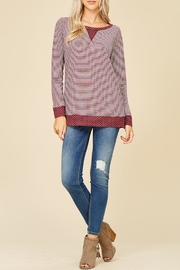Staccato Dots And Stripes Top - Product Mini Image